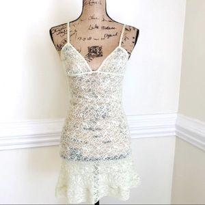 Victoria's Secret Lace Chemise Slip Nightgown S